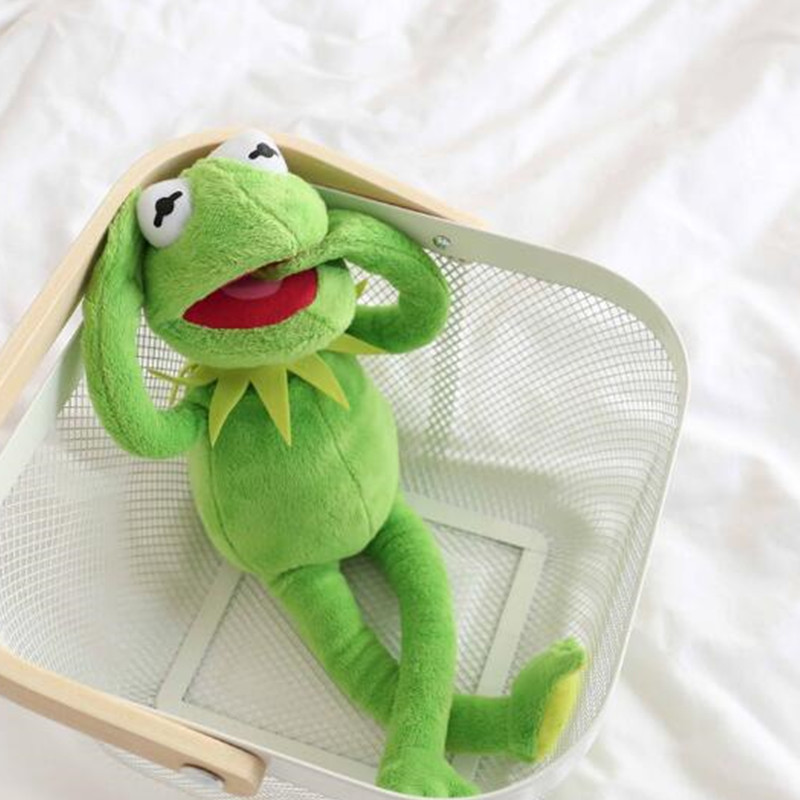 Frog Cute 40cm KERMIT THE FROG PLUSH SOFT TOY THE MUPPETS SHOW FILM TEDDY BNWT For Baby Kids Christmas Dolls Birth Present