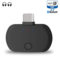 Bluetooth 5.0 USB Type C Dual Link Aptx Low Latency Wireless music Transmitter Audio Adapter for PS4 Nintendo Switch Macbook