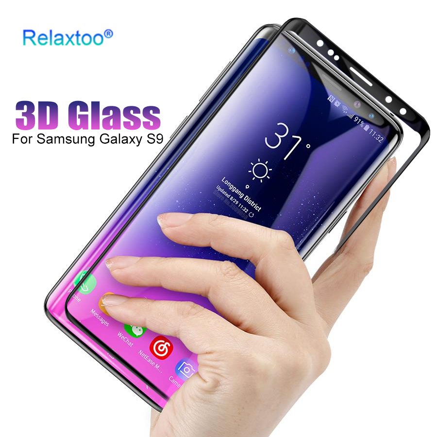 3D Screen Protector Tempered Glass For Samsung Galaxy S9 S9 Plus S 9 Full Cover Curved Edge Film Case For Galaxy S9 S9+ Glas
