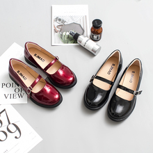 2018 New Japanese Style Vintage College Student Shoes Girls Cute Cosplay Lolita JK Uniform Size 35-40