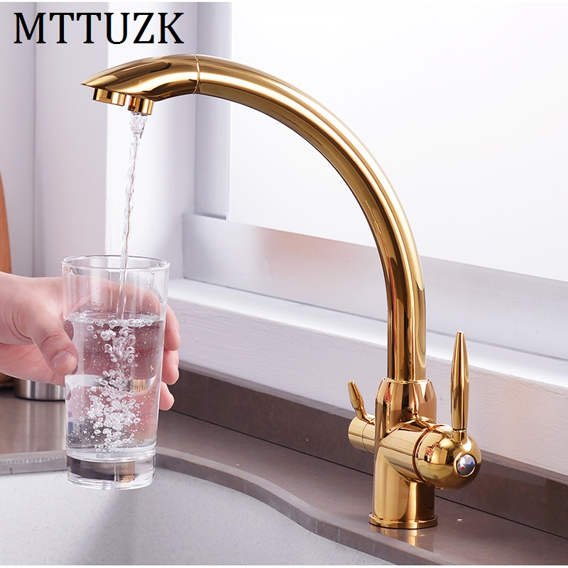 MTTUZK Hot Cold Water Pure water 3 in 1 Kitchen Faucet Drinking Water Mixer Tap Double Water Outlet Faucet MTTUZK Hot Cold Water Pure water 3 in 1 Kitchen Faucet Drinking Water Mixer Tap Double Water Outlet Faucet