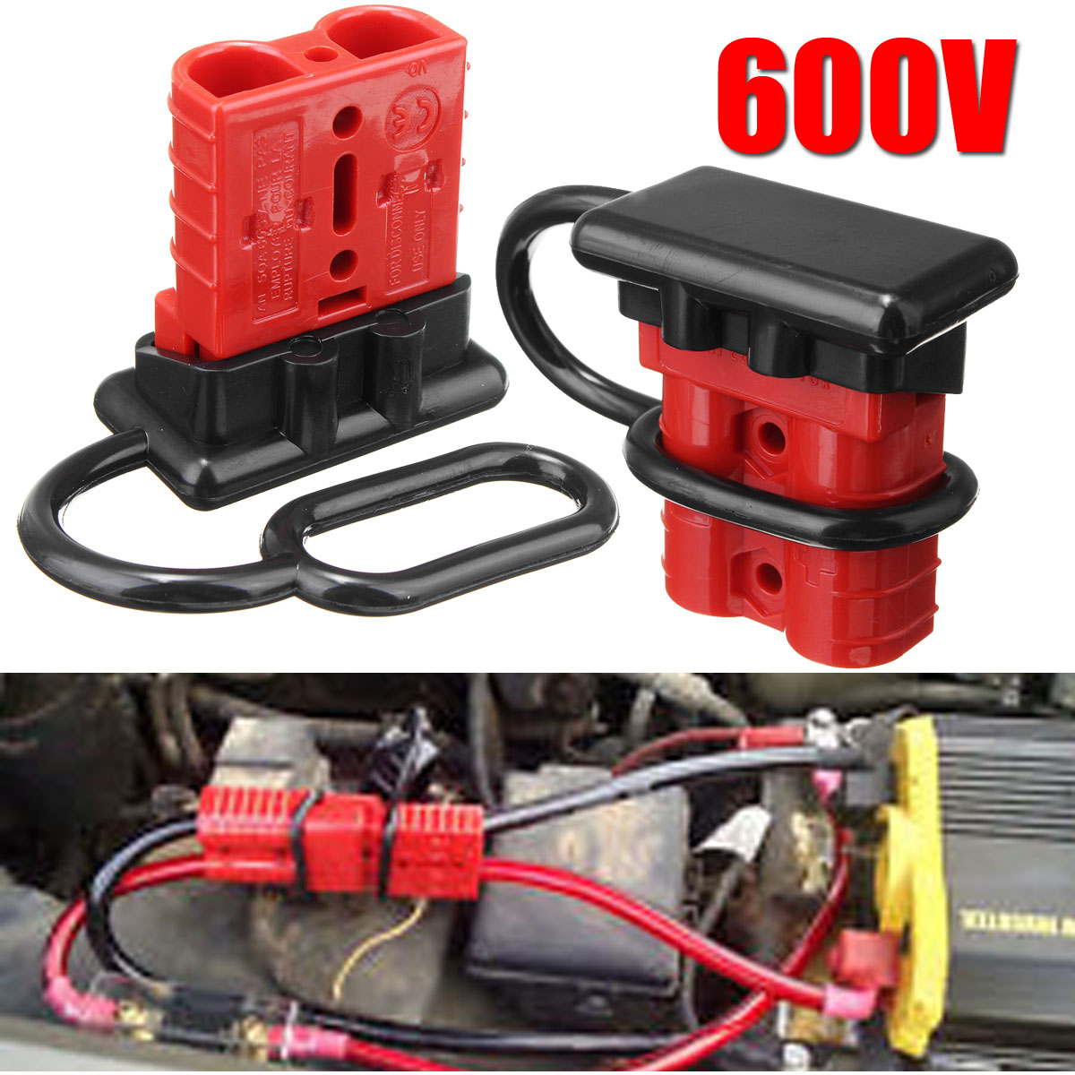 Autoleader 2pcs Battery Quick Connector 50a Winch Wire Harness Disconnect Plug 600v Trailer Set On Alibaba Group