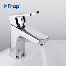 Frap new 1 set Brass Body Bathroom Basin Faucet Vessel bath Sink faucet Water Taps cold and hot Mixer Chrome Finish torneria single handle bathroom basin vessel sink faucet hot cold water mixer taps chrome finish one hole