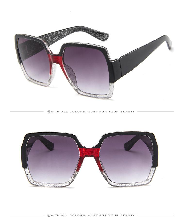 19 Oversized Sunglasses for Women Brand Designer Retro Sun glasses Red Green Shades Eyewear sunglasses woman 10