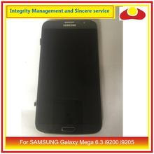 "6.3"" For SAMSUNG Galaxy Mega 6.3 i9200 i9205 LCD Display With Touch Screen Digitizer Panel Pantalla i9200 LCD With Frame"