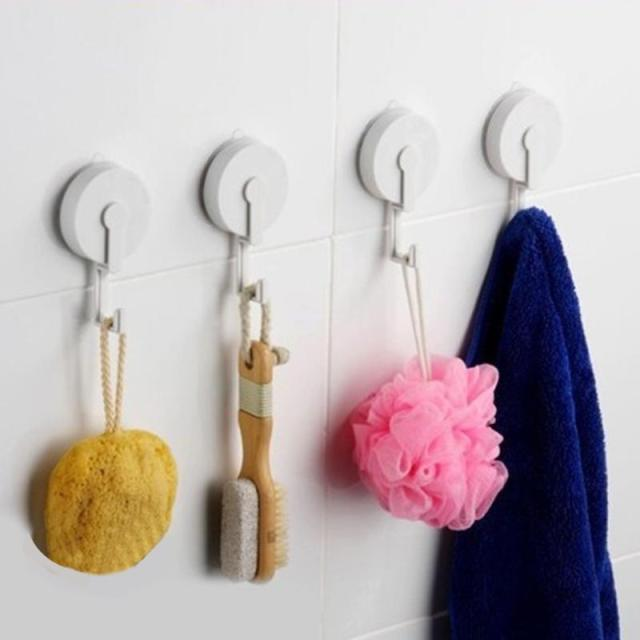 3kg Load Bearing Bathroom Towel Hooks Kitchen Suction Cup Wall