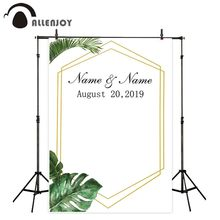 Allenjoy fundo fotografico backdrop summer forest golden frame simple wedding custom photocall photozone background for photos
