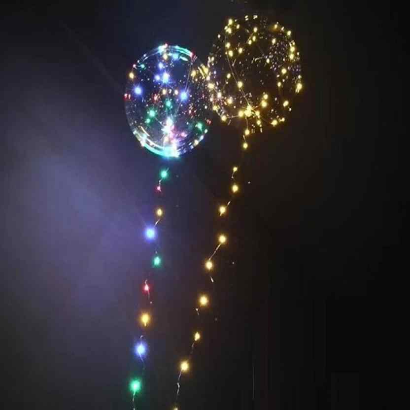 Wyczyść lateksowy balon Led Luminous balony przezroczyste okrągłe bańki na dekoracje ślubne birthday party Supplies