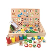 Wooden Donut Digital Calculation Box Children Early Learning Puzzle Animal Cognitive Toy Gift  Jouet