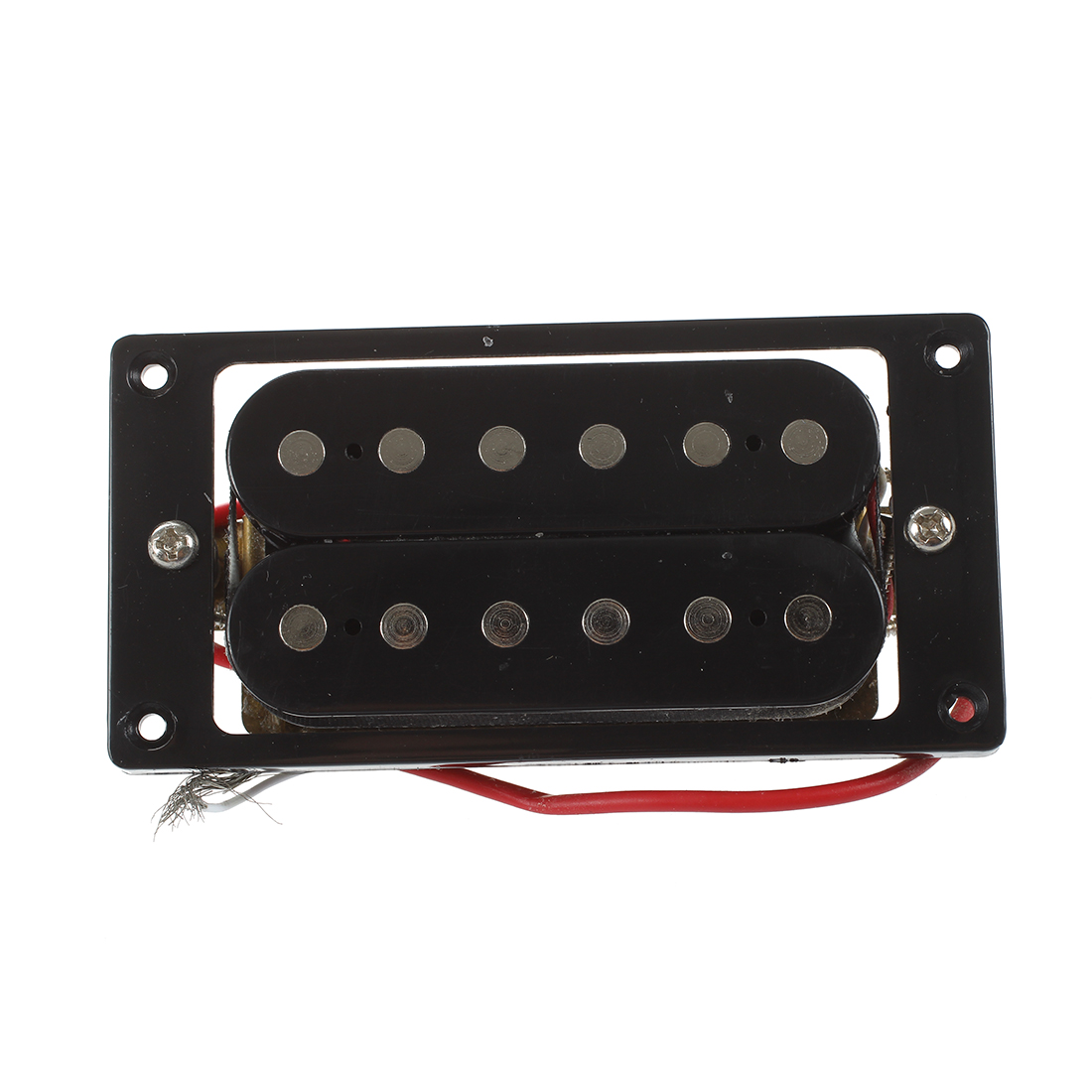 HOT 2PCs(1 set)Black Humbucker Double Coil Electric Guitar Pickups + Frame Screw 1 set of 2 one black one yellow humbucker double coil electric guitar pickups