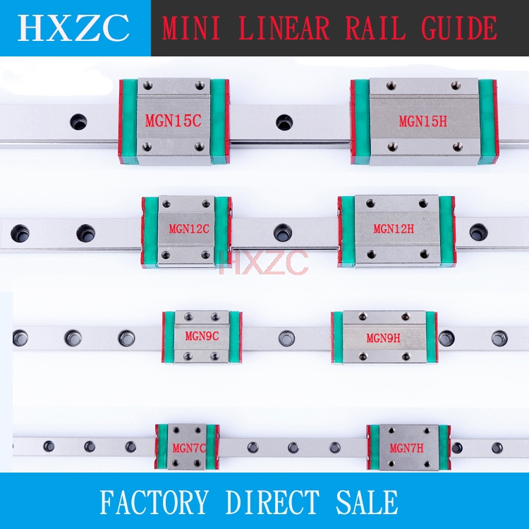 Free shipping 3pcs 12mm Linear Guide MGN12 L= 750mm linear rail way + MGN12C or MGN12H Long linear carriage for CNC 3d printer цена