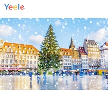 Yeele Winter Landscape Fallen Snow Castle Room Decor Photography Backdrop Personalized Photographic Backgrounds For Photo Studio