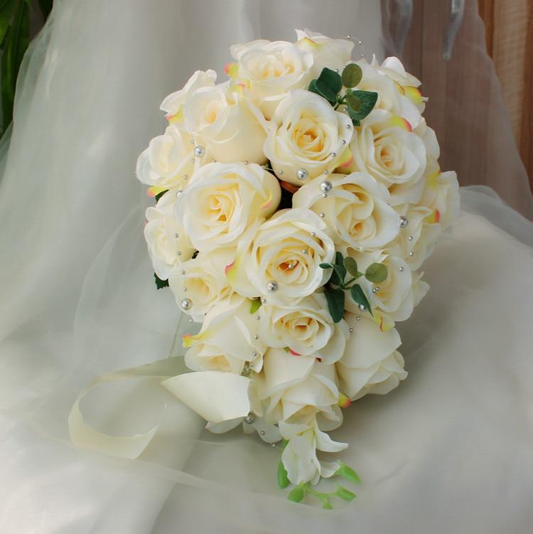 Waterfall style Flower Wedding Bride Holding Flower Bridal Bouquet ...