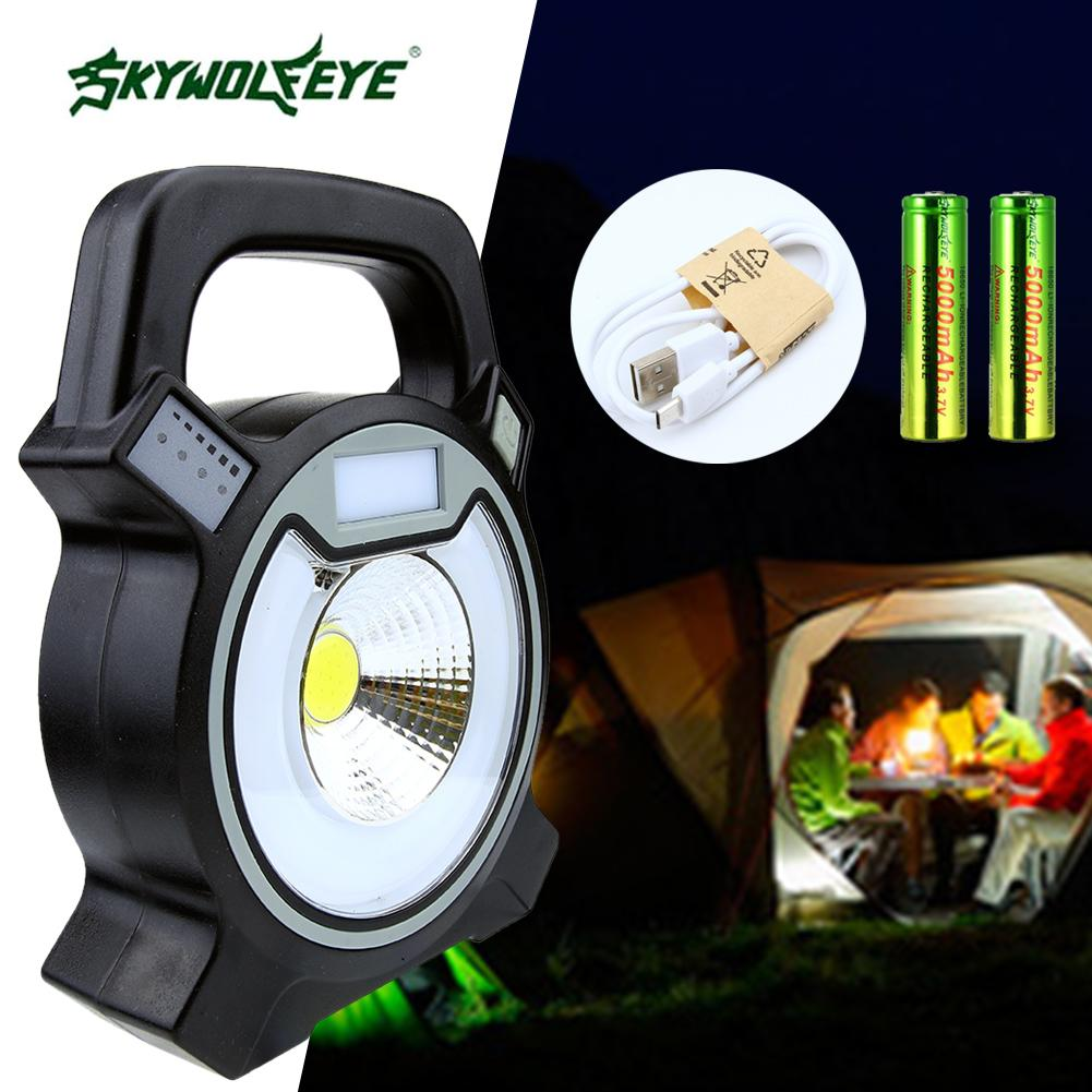 2000lm 20x Smd Led Camping Emergency Light Portable Tent Lamp Lantern Power Bank Hiking+2*18650 Battery+usb Cable Excellent Quality