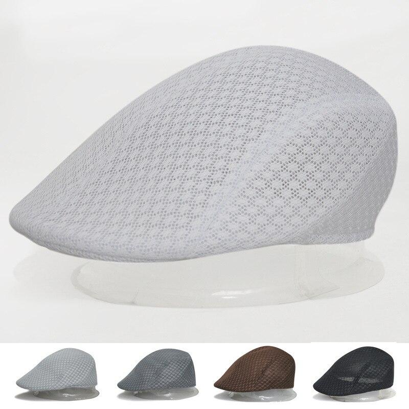 2017 spring and summer men&women sport mesh air holes beret summer cool beret sports cap boina masculina 3 color