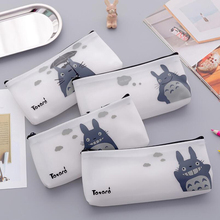 Kids Animal Totoro Pencil Bag Cartoon School Supplies Student Learning Stationery Pencil Cases Waterproof Organizer Gift cartoon hard surface small note handwritten sketch white page elementary school student learning supplies stationery