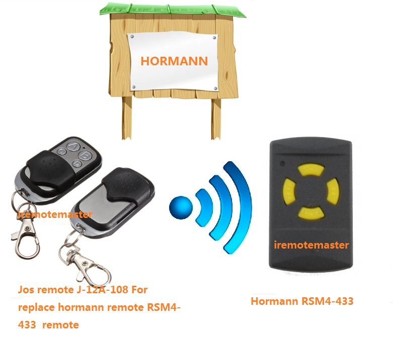HORMANN HSM2, HSM4 4channel 433.92MHZ, garage door remote control, transmitter replacement 2013 new version nice transmitter nice remote control smilo 2 smilo 4 nice replacement remote