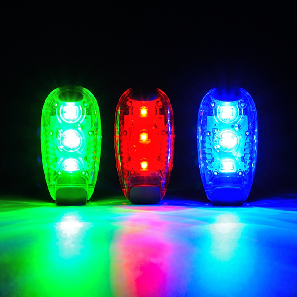 Cycling Bike Lights Bicycle Part Multi-function LED Safety Light Clip On Running Warning Light Reflective Gear Nighttime Cycling