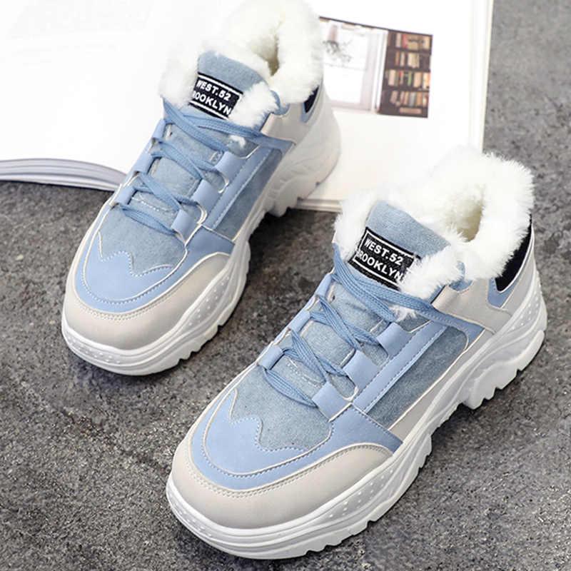 3200a14db436 Moxxy/модные зимние кроссовки, женская обувь на плюшевом меху, повседневная  обувь, ...