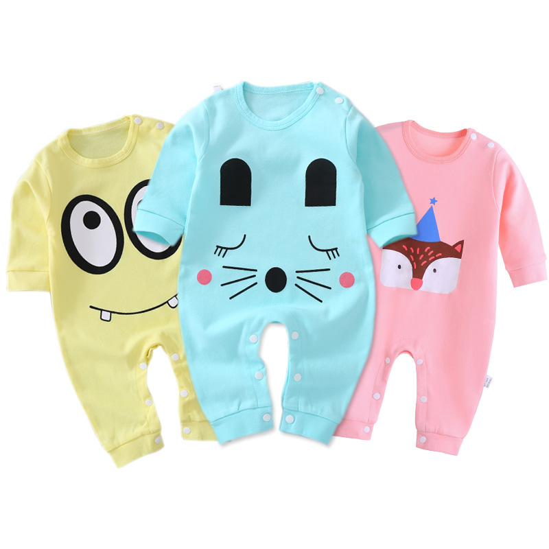 Baby Conjoined Clothes Spring And Autumn Male Newborn Baby Harry Clothes Thin Toddler Spring Summer Dress