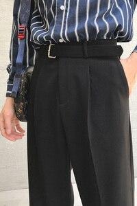Image 5 - Мужские хлопковые брюки для отдыха 2020, мужские высококачественные тканевые повседневные штаны шаровары, западный стиль, светильник, брюки серого/черного цвета