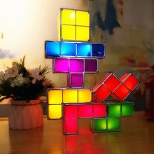 HZFCEW Upgrade DIY Tetris Puzzle Light Retro Game Colorful Brick Toy  Stackable LED Desk Lamp Constructible Block Night Light e836b2352e27
