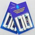 400 unids/100 paquetes de Reemplazo de cerdas suaves SB-17A cepillo de Dientes Eléctrico Jefes POM 4 Colores para Oral B 3D sb17a cabezal de cepillo de dientes