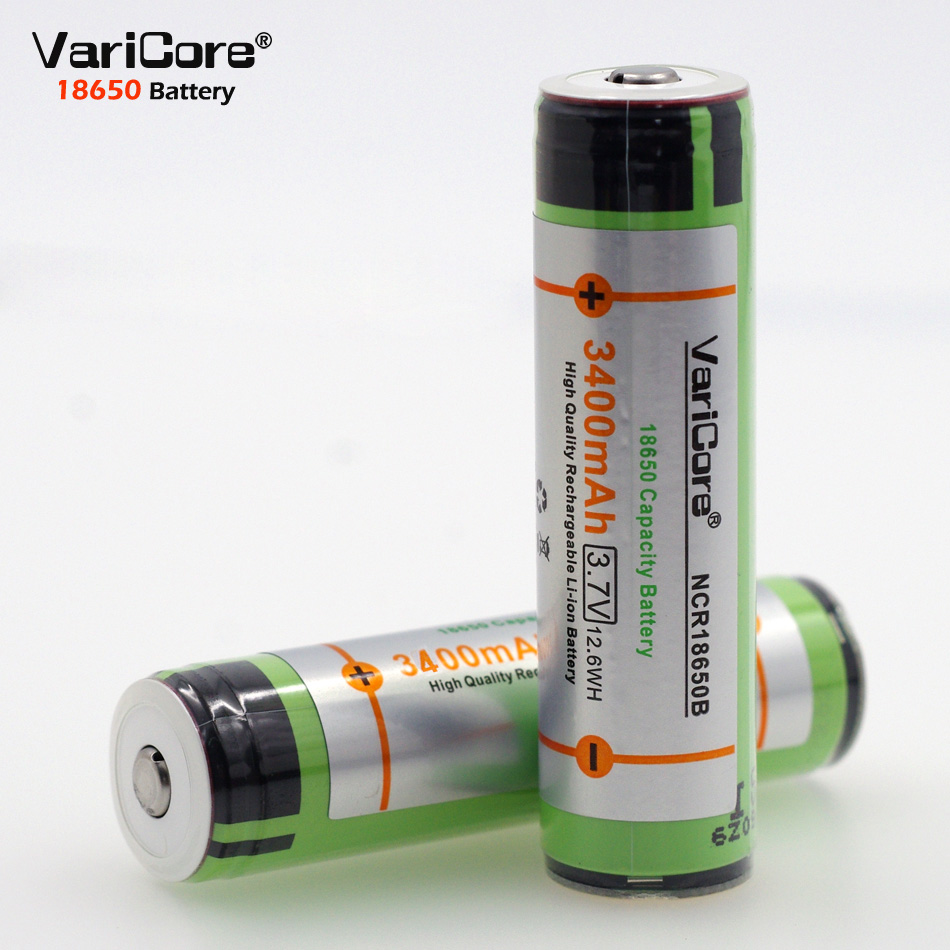 <font><b>100</b></font>% new original VariCore 18650 3400 <font><b>mAh</b></font> <font><b>3.7</b></font> <font><b>V</b></font> lithium-ion battery NCR18650B +rechargeable battery Protection PCB image