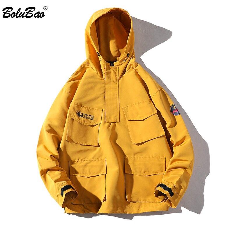 BOLUBAO Hooded Jacket Men Fashion Coat 2019 Spring Autumn Hip Hop Jackets Male Streetwear Casual Solid Color Jacket Coat