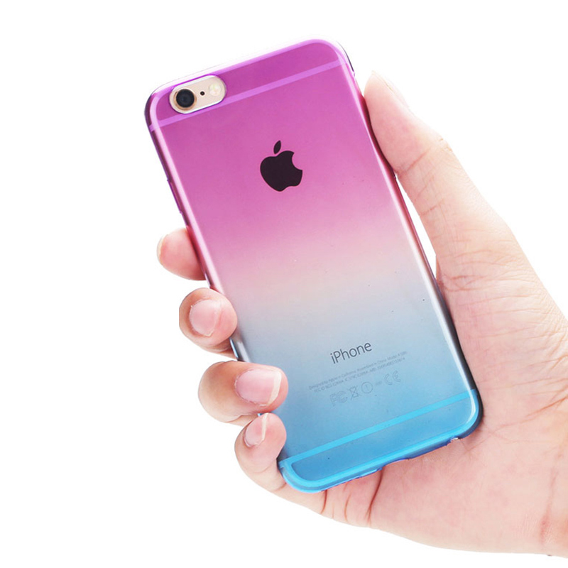 best sneakers 3b107 00acb US $3.18 |Gradual Change Ombre Colorful TPU Soft Case For iPhone 6 Plus  Rainbow Transparent Back Cover For Apple 6s Plus on Aliexpress.com |  Alibaba ...