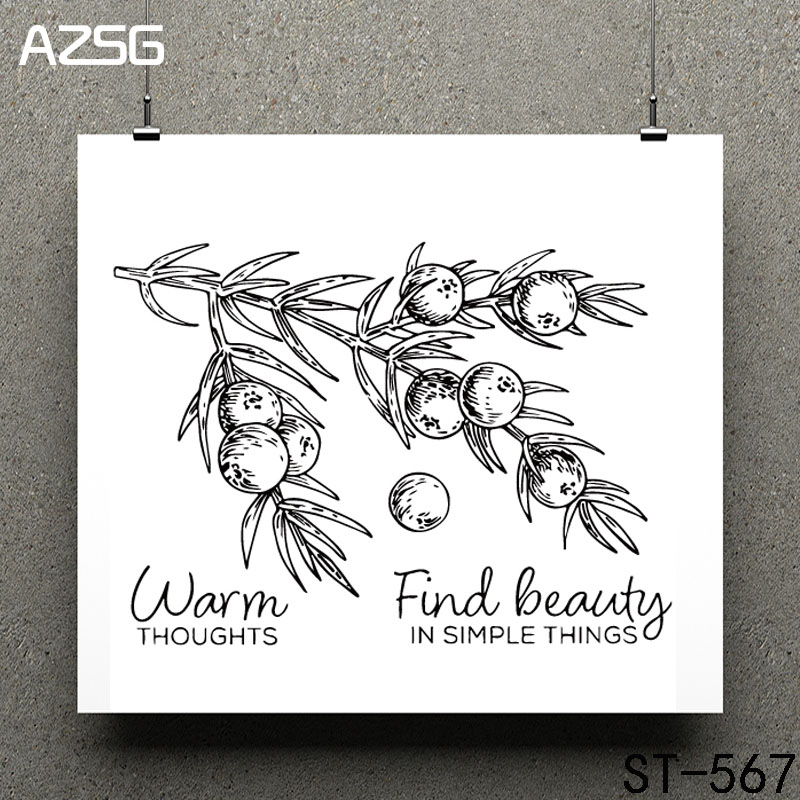 Abundant fruits Clear Stamps/seal for DIY Scrapbooking/Card Making/Photo Album Decoration Supplies