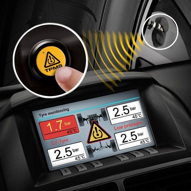 Steelmate TP-05 TPMS Sistema de Monitoreo de la presión de las llantas en el Tablero A/V Monitor con control remoto botón 4 Profesional los sensores internos.
