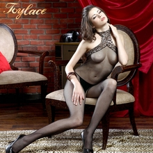 R6260 1PC Leopard Lace Backless Sexy Transparent Bodysuit Sexy Lingerie Bodystocking
