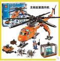 2016 Nueva Bela 10439 273 unids Ciudad Ártico Helicrane Helicóptero de juguete juguetes de bloques de Construcción ladrillos URBAN 60034 Chindren expedición Polar