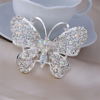 7 0x5 0cm Butterfly Brooches For Women Up Jewelry Suit Hats Antique Corsages Brand Pin Brooch