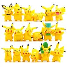 18pcs/set Kawaii Pikachu Anime Action Figure PVC Toys for Children