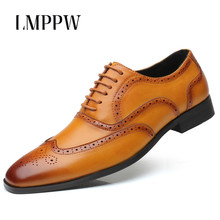 Luxury Brand Design Oxford Shoes for Men Genuine Leather Brogue Derby Shoes Fashion British Business Wedding Dress Formal Shoes