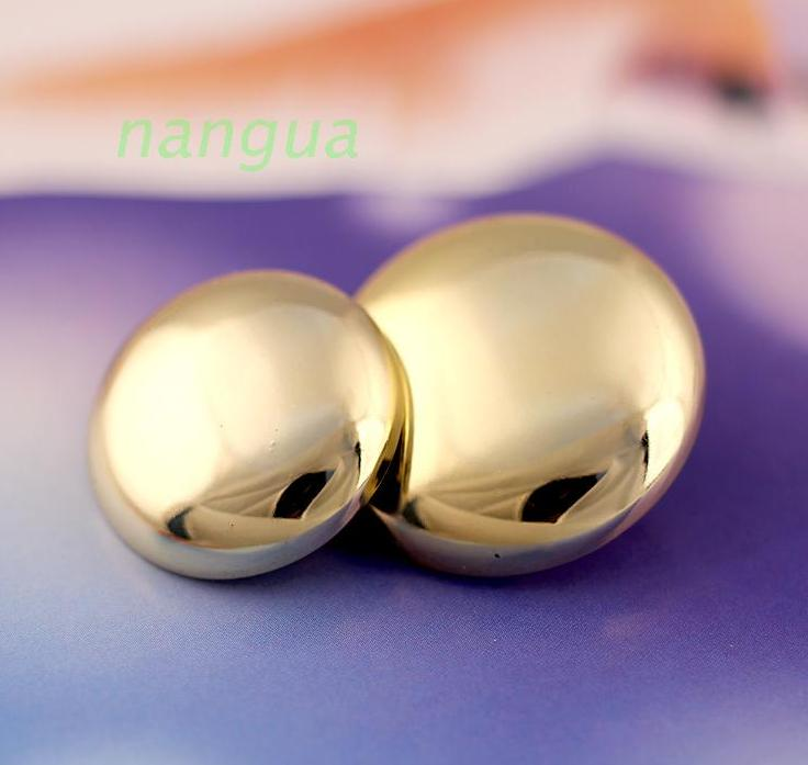 Golden 21 mm ABS electric gold-plated buttons mushrooms button 100pcs/lot free shipping