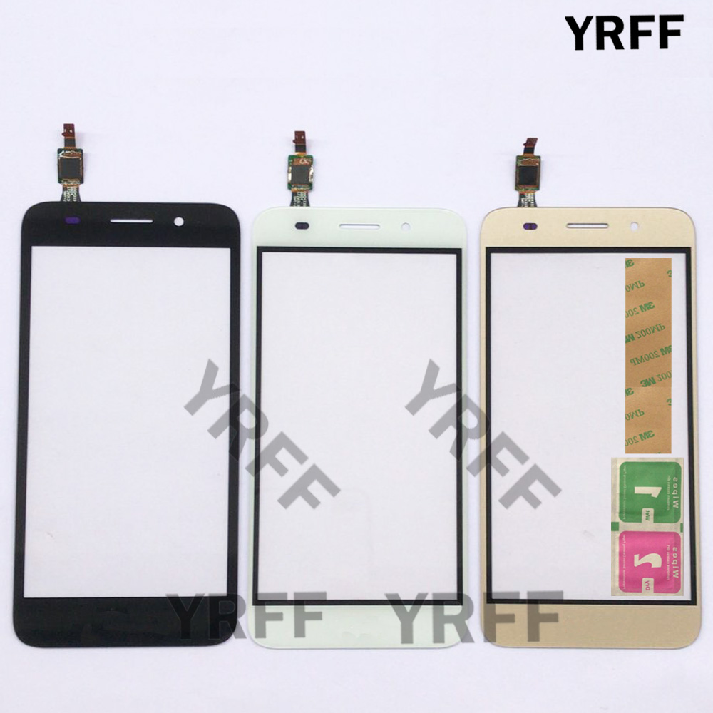Touch Screen Glass Digitizer Panel For Huawei Y3 2017 CRO-U00 CRO-L02 CRO-L22 Touch Screen Touchscreen Lens Sensor Front Glass