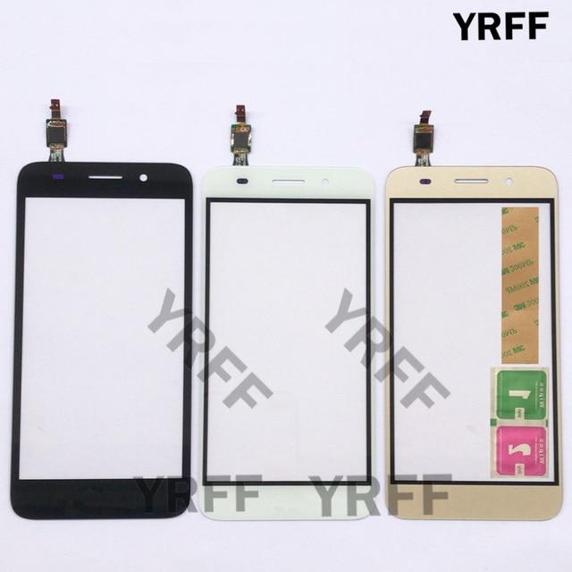 Vetro Dello Schermo di tocco Panel Digitizer Per Huawei Y3 2017 CRO U00 CRO L02 CRO L22 Touch Screen Touchscreen Sensore Lente Frontale In Vetro