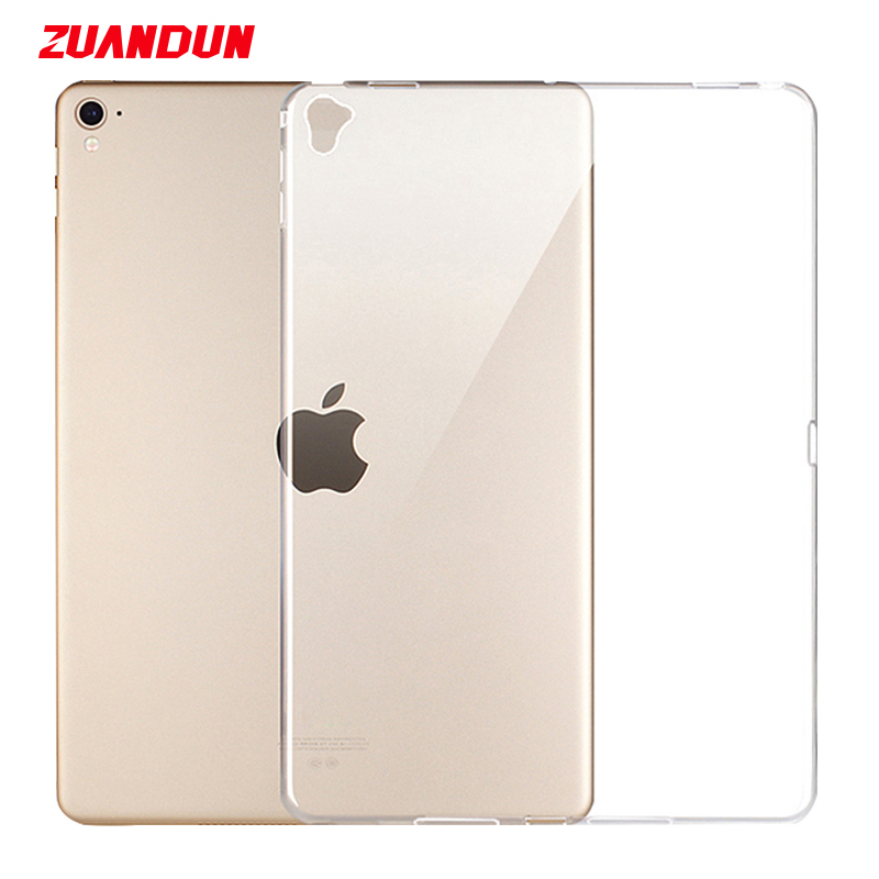 ZUANDUN Soft Silicone TPU Case For iPad Pro 12 9 inch 2017 Transparent Clear Cover For