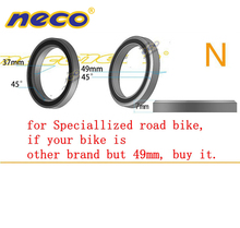 Neco Bearing Bike Headset for Lefty fork 49 50.8 51.8 52 mm 45 270 degree angle diameter Road bike MTB цена
