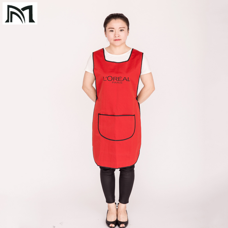 Купить с кэшбэком Hairdress Wrap Polyester Professional Hair Styling Sleeveless Protect Vest Hairpin Work Apron 85*47CM for Adult Cape B8