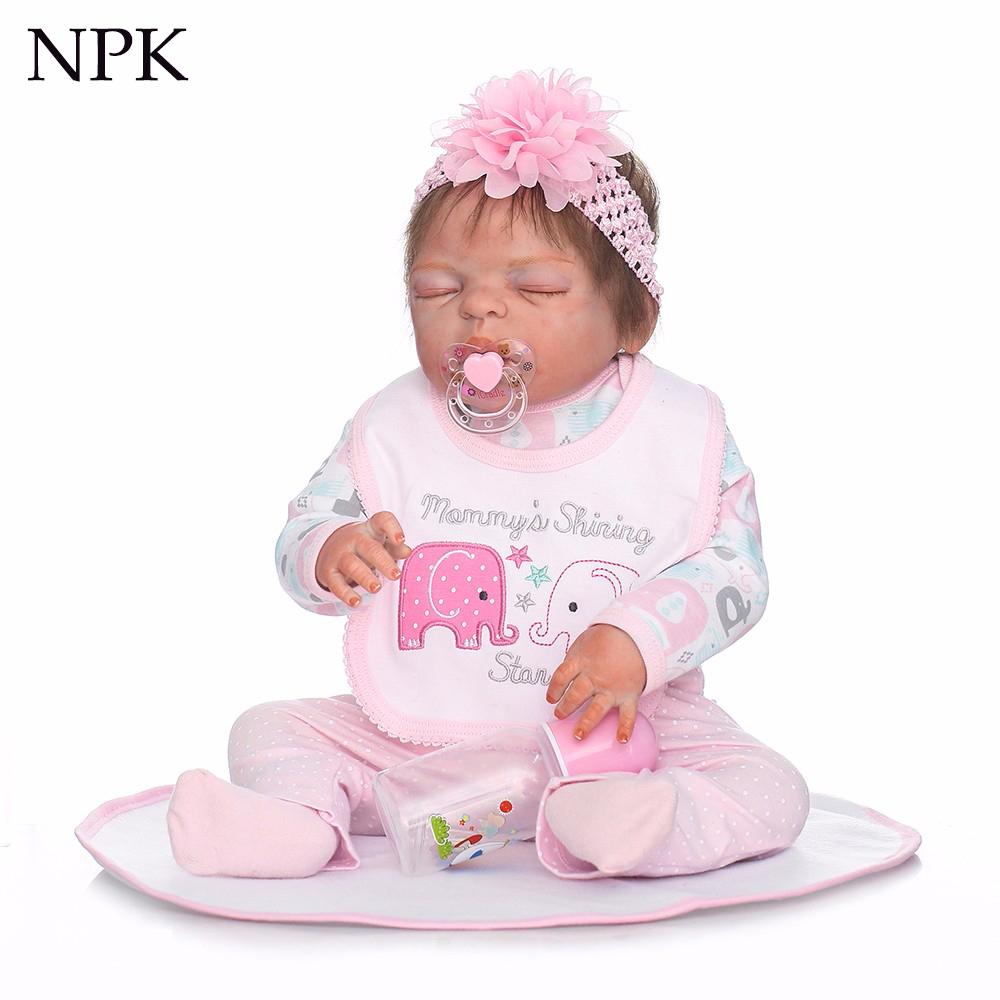 Drop shipping handmade reborn baby doll 55cm 22inch fullbody silicone vinyl doll sleeping baby doll toys for girls gifts bonecasDrop shipping handmade reborn baby doll 55cm 22inch fullbody silicone vinyl doll sleeping baby doll toys for girls gifts bonecas