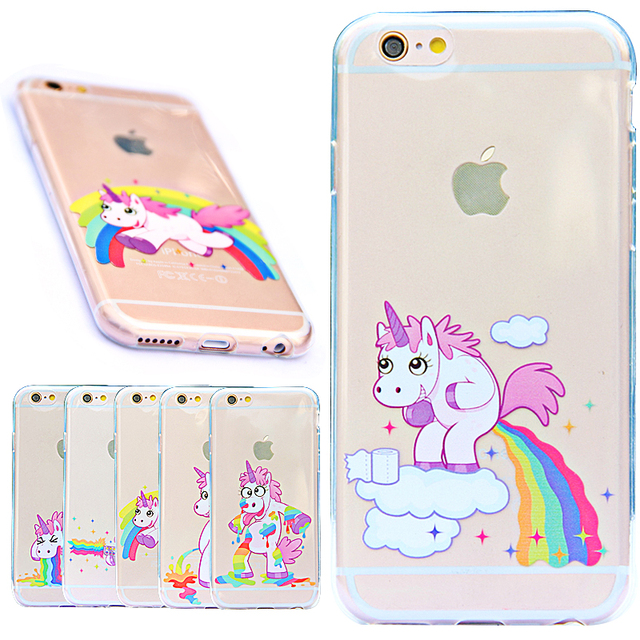 online store 68d90 d3411 Rainbow Unicorn Case For iPhone 5 5S SE / 6 Plus 6S Plus Cover Transparent  Clear Silicone Coque Capinha For iPhone 5 5S Case TPU on Aliexpress.com |  ...