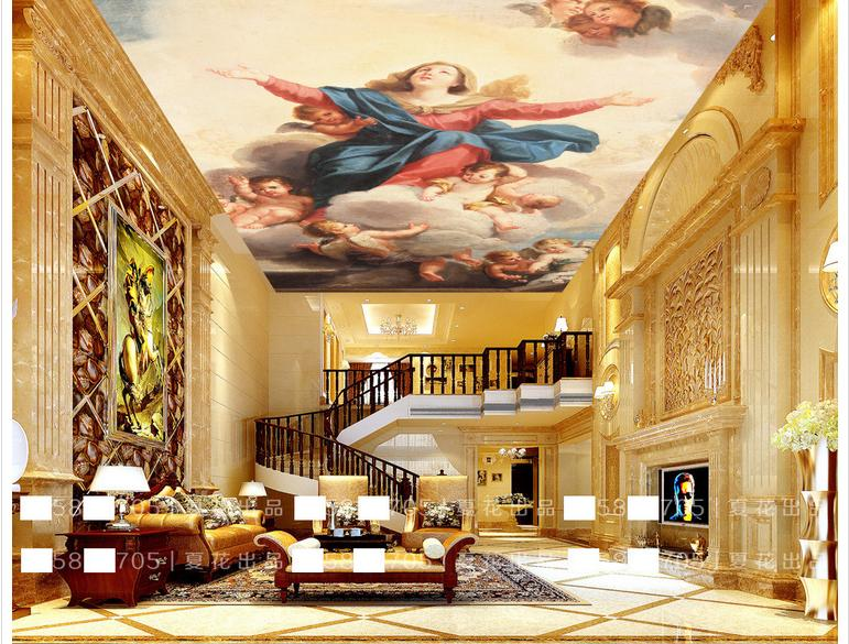 How To Decorate A Living Room With Religion: Custom Photo Wallpaper 3d Ceiling Wallpaper Murals His