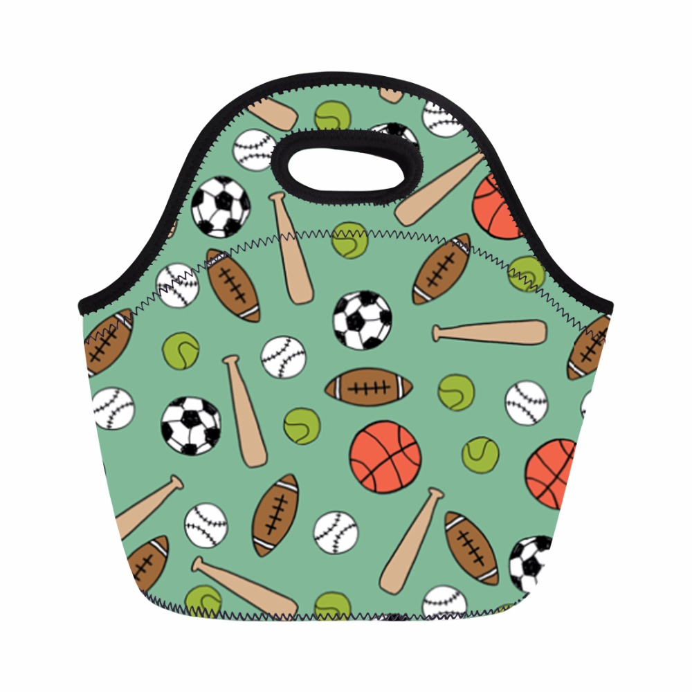 Green 3D Printing School Bags For Students Boys Kids Backpack Set 3 Pieces Schoolbag Footall Pattern Sturdy Bookbags Lunch Bags