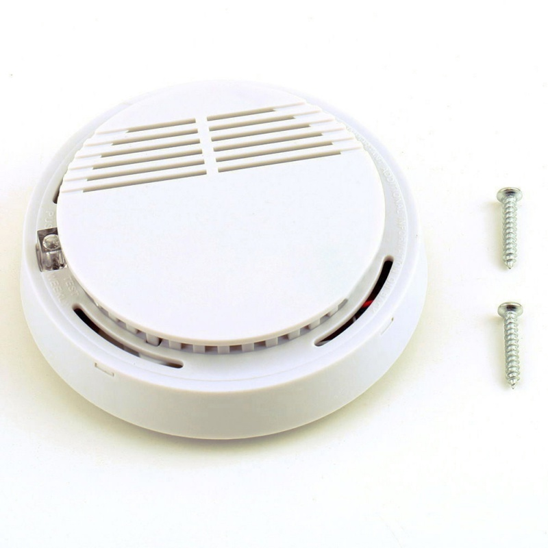 Home Security Standalone Smoke Detector Fire Alarm Photoelectric Sensor  Fire Smoke Detector Alarm Alert