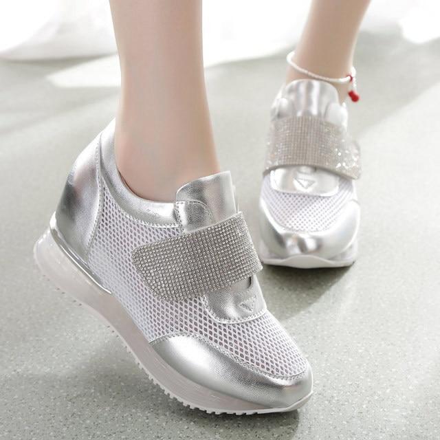 77a8ac1691f Verano Moda Casual 2015 Shoes 2 Colores Ascensor Primavera Cuña ...