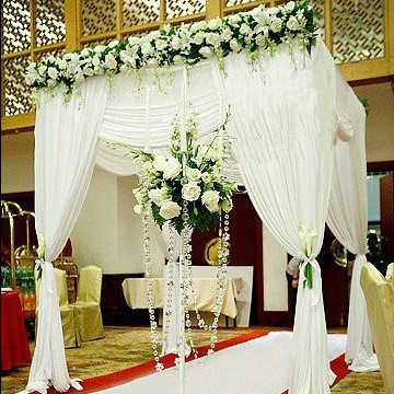 Top selling customized color square canopy/chuppah/arbor drape with ...